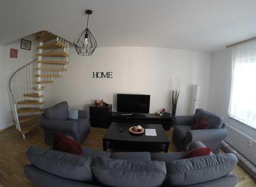 Exklusive, neuwertige 3-Zimmer-Maisonette-Wohnng voll möbliert, Balkon und EBK in Frankfurt am Main