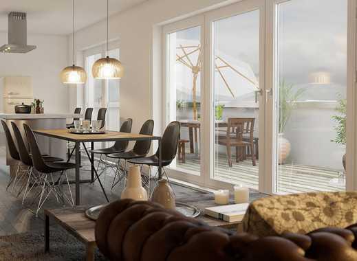 Viel Raum und Licht: 3-Zimmer-Penthouse mit 3 Dachterrassen und 2 Bädern nahe Innenstadt