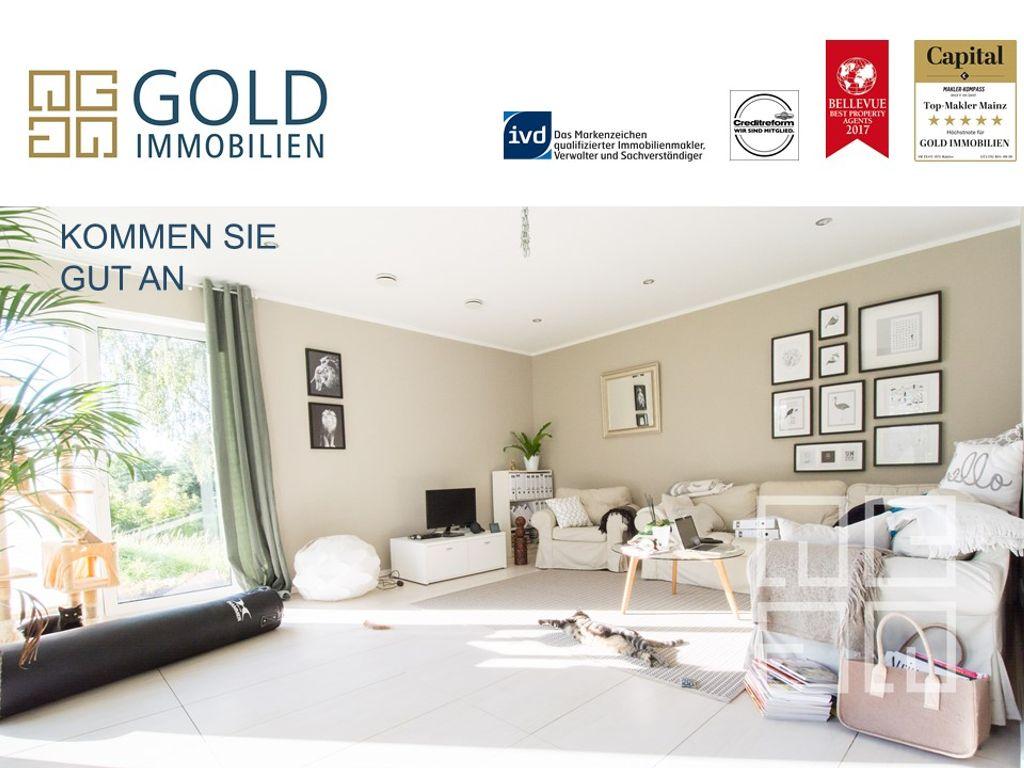 gold immobilien: individuelles, wunderschönes einfamilienhaus ... - Wohnzimmer Modern Hell