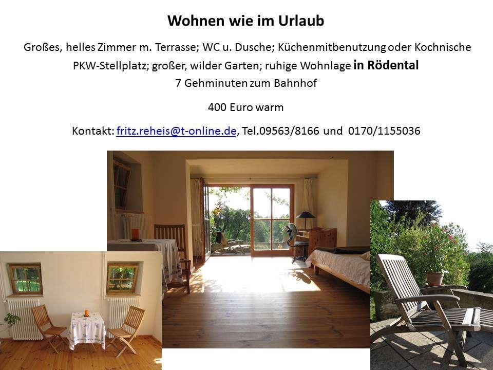 Neuwertige 1-Zimmer-Wohnung mit Balkon und EBK in Rödental in Rödental