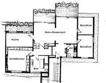 Sonnige Penthaus-Wohnung über dem Schloßgarten