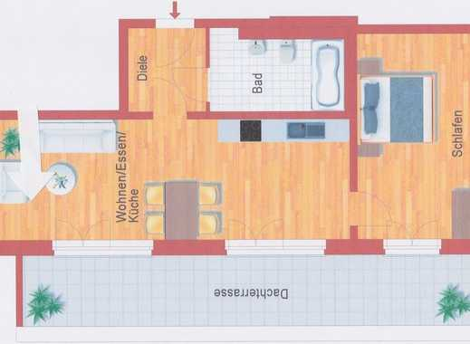 Erstbezug: Großzügige 2-Zi-DG-Wohnung, sehr hell, mit grosser Terrasse