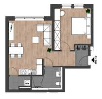 Erstbezug Moderne schöne 2-Zimmer-Wohnung mit