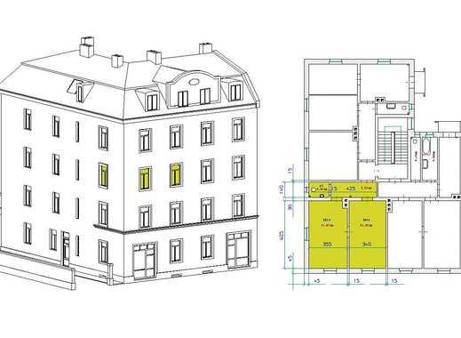 Sonniges Büro mit 2 gleich großen Räumen