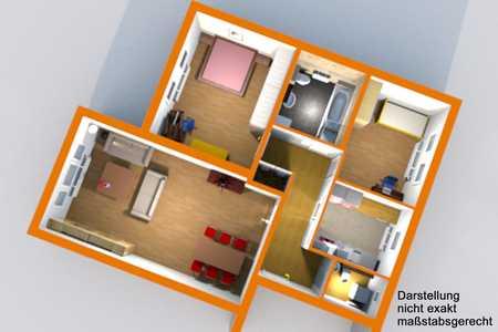 Günstige, neuwertige 3-Zimmer-Dachgeschosswohnung mit EBK in Hof in Hof-Innenstadt