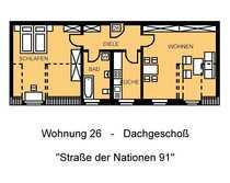 1 Monat mietfrei - Schicke Dachgeschosswohnung