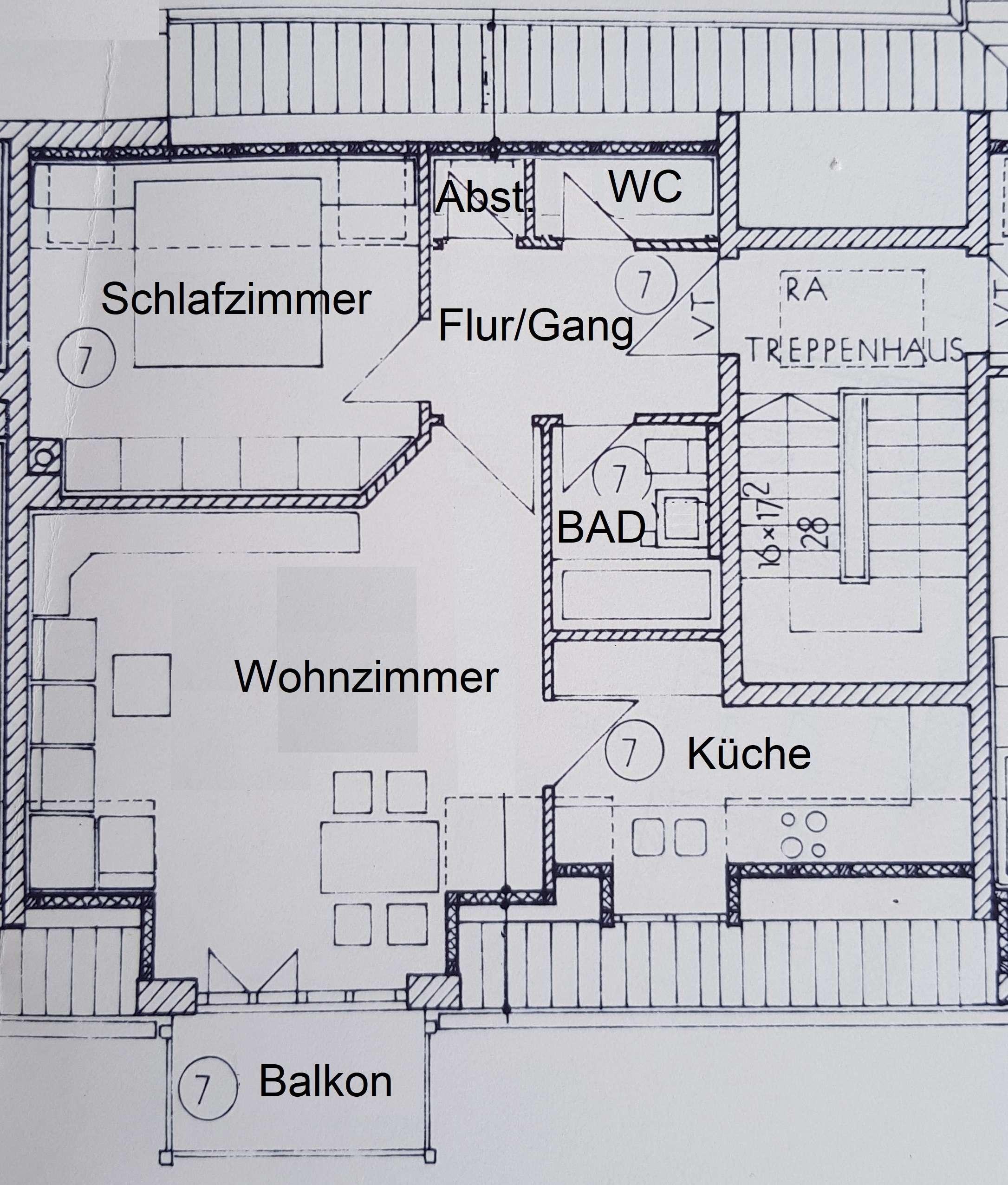 Ruhige Innenstadtlage, 3 ZKB Balkon, 87 m² in Augsburg-Innenstadt