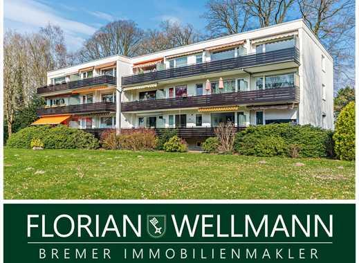 Bremen - St. Magnus   Gepflegte, wertig ausgestattete 2 Zimmer Wohnung mit Balkon in ruhiger Lage