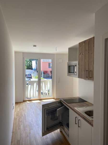 Erstbezug: Neue 1-Zimmer-Wohnung mit EBK und Balkon in Schwabing-Freimann, in Freimann (München)