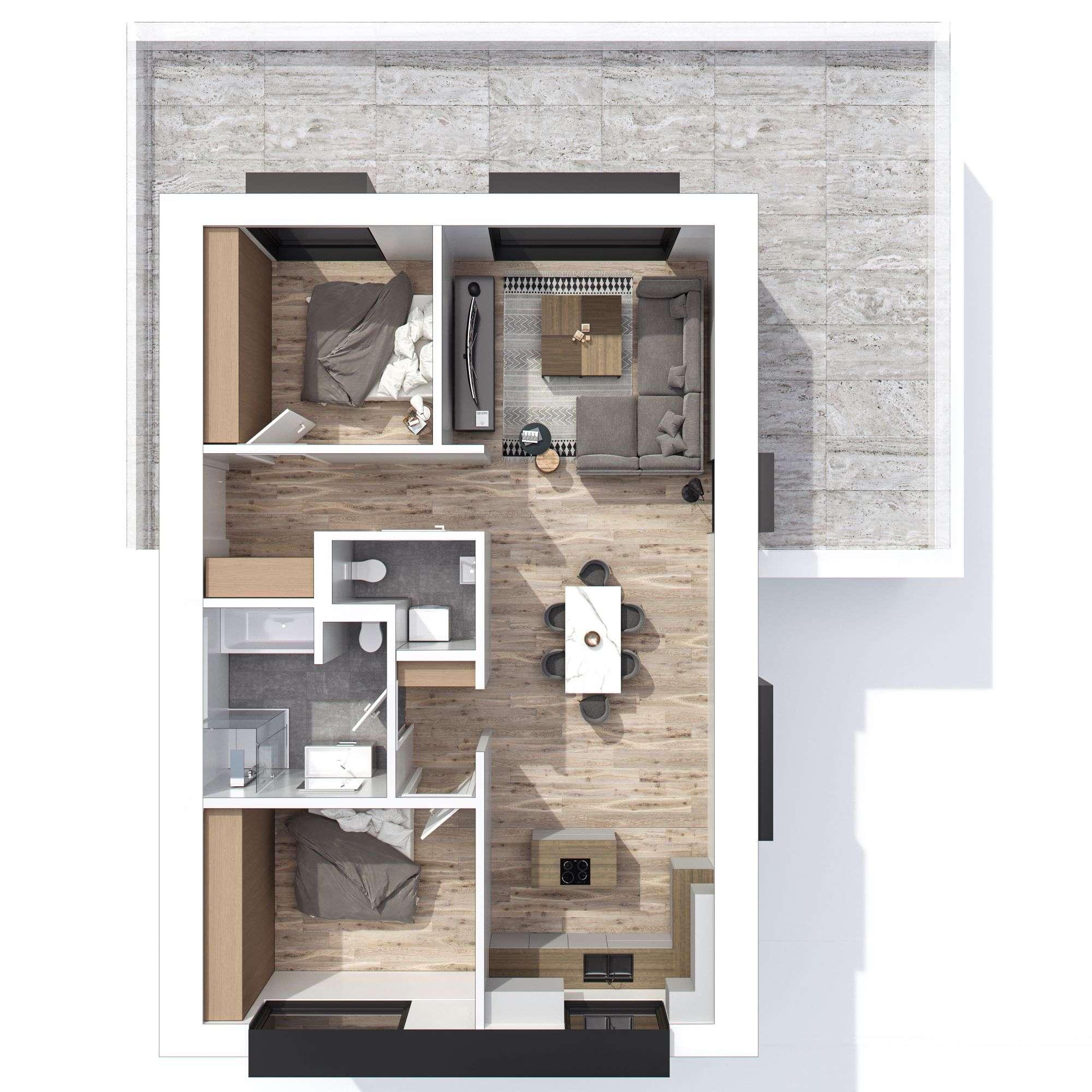 Erstbezug! stilvolle 3-Zimmer-Wohnung mit Penthousecharakter und großer Dachterrasse in Geiselhöring in Geiselhöring