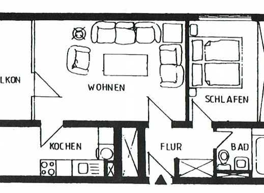 MGK bietet List: gut geschnittene 2-Zimmerwohnung mit Aussicht direkt auf den Kanal