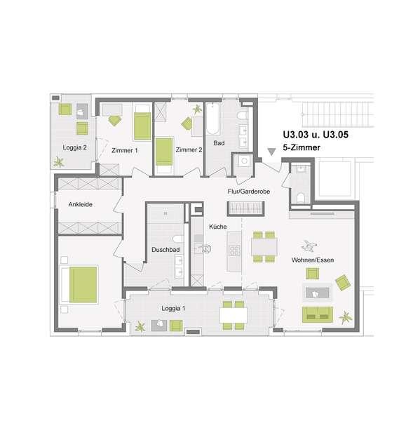 5-Zimmerwohnung mit 132 m²