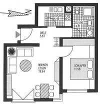 Gepflegte 2-Zimmer-Wohnung mit Tiefgaragenplatz und