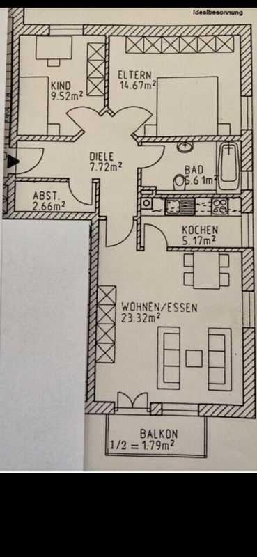 Geräumige 3-Zimmer Wohnung im 1. OG mit vielen Extras in Mainburg