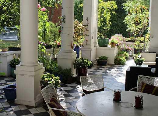 Herrschaftliche wunderschöne Altbauwhg. –Haus im Haus-, große Terrasse, Garten, Garage, zzgl. 70 m²
