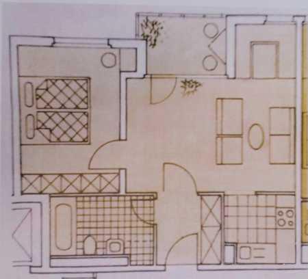 2-Zimmer-Wohnung mit Einbauküche in Erding (Kreis) in Erding
