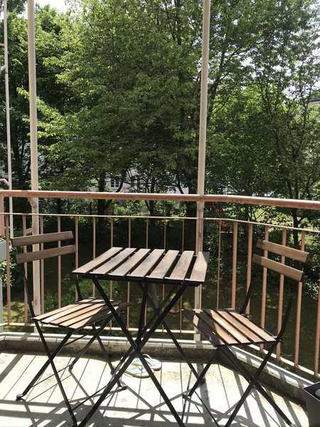 Möbliert zur Untermiete:  1,5-Zi Singlewohnung Nähe Olympiapark mit Balkon, EBK, Keller, TG in Schwabing-West (München)