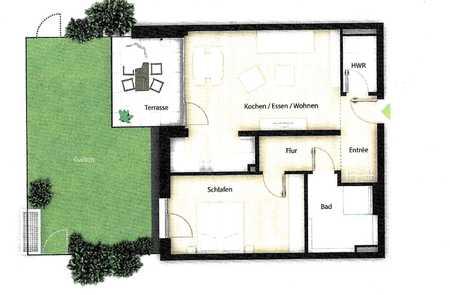2-Zimmer-Neubauwohnung mit Terrasse in Fürth in Südstadt (Fürth)