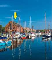 Yachthafen-Restaurant direkt am Wasser mit