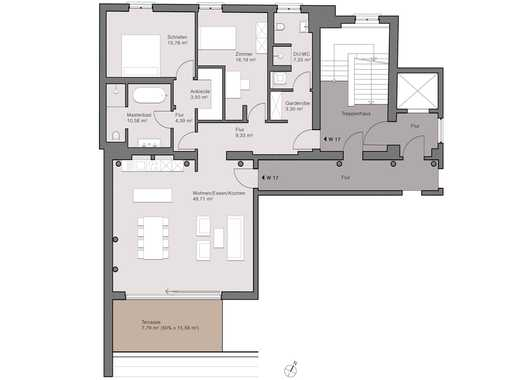3-Zimmer-Wohnung mit Blick über die Dächer