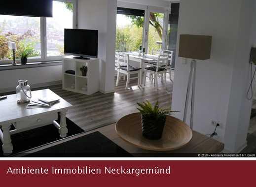 Studiowohnung mit sonniger Terrasse und herrlichem  Neckartalblick