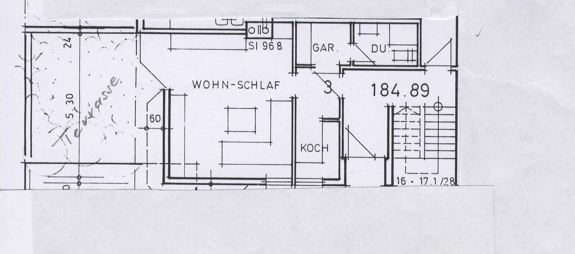 gepflegte 1-Zimmer-Wohnung in Würzburg /Stadtrandlage in