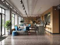 Barrierefreies City-Apartment mit Concierge Co-Working-Areas
