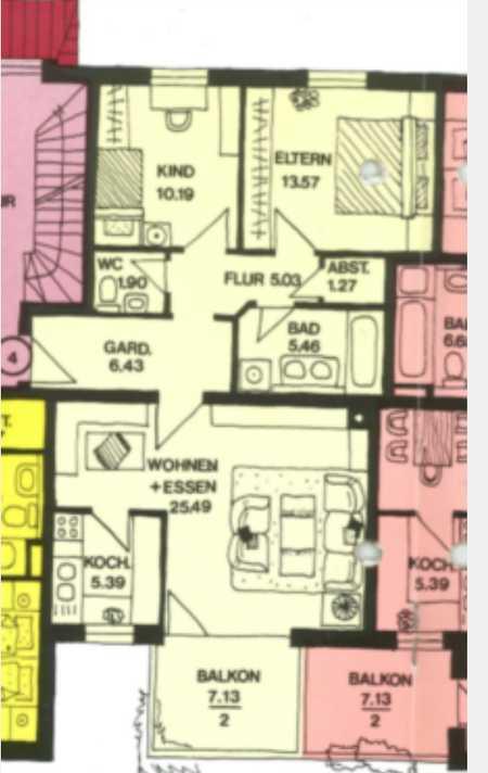 Gepflegte 3-Raum-Wohnung mit Balkon in Landshut in Nikola
