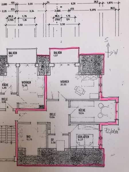 Vollständig renovierte 2,5-Zimmer-DG-Wohnung mit Balkon in Seukendorf in Seukendorf