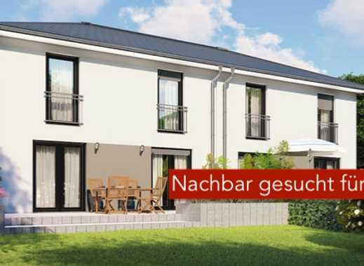 Noch eine Hälfte: Bauherrenfamilie sucht Nachbar für Doppelhaus - PROVISIONSFREI!