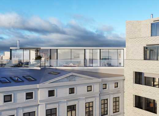 Blick auf den Besselpark: Zweiseitig verglastes, exklusiv ausgestattetes Penthouse