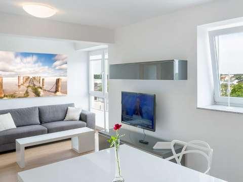 Modern ausgestattete city apartments in rostock mit balkon
