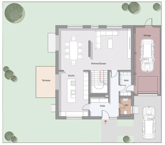 Grundriss Typ A - Erdgeschoss