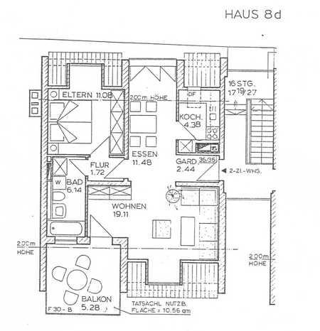 Helle und zentrale 2/3 Zimmerwohnung inkl. Tiefgarage in Galgenberg (Regensburg)