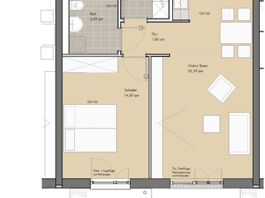 ffentlich gef rderte 2 zimmer wohnung in geretsried wohnberechtigungsschein n tig. Black Bedroom Furniture Sets. Home Design Ideas