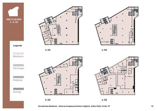 13. Grundrisse Mietflächen