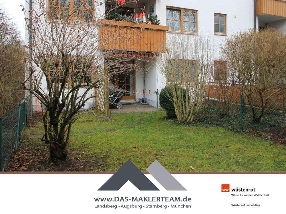 Gepflegte, sonnige Erdgeschoss-Wohnung mit hübschem Westgarten in Landsberg am Lech