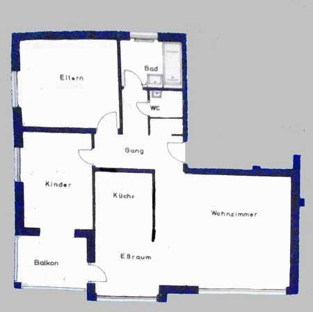 Wohnung mit dreieinhalb Zimmern sowie Balkon und EBK in München (Kreis) in Unterschleißheim