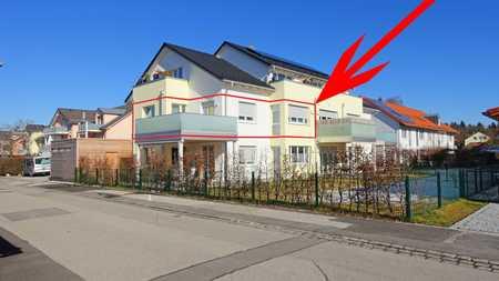 Watzmann-Palais: 3-Zi-WHG mit dachterrassenartigem Riesen-Balkon in Geretsried