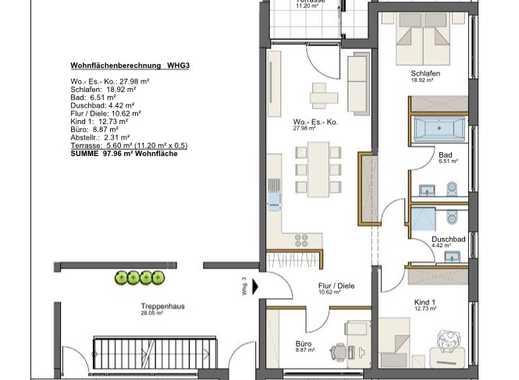 830 €, 98 m², 4 Zimmer