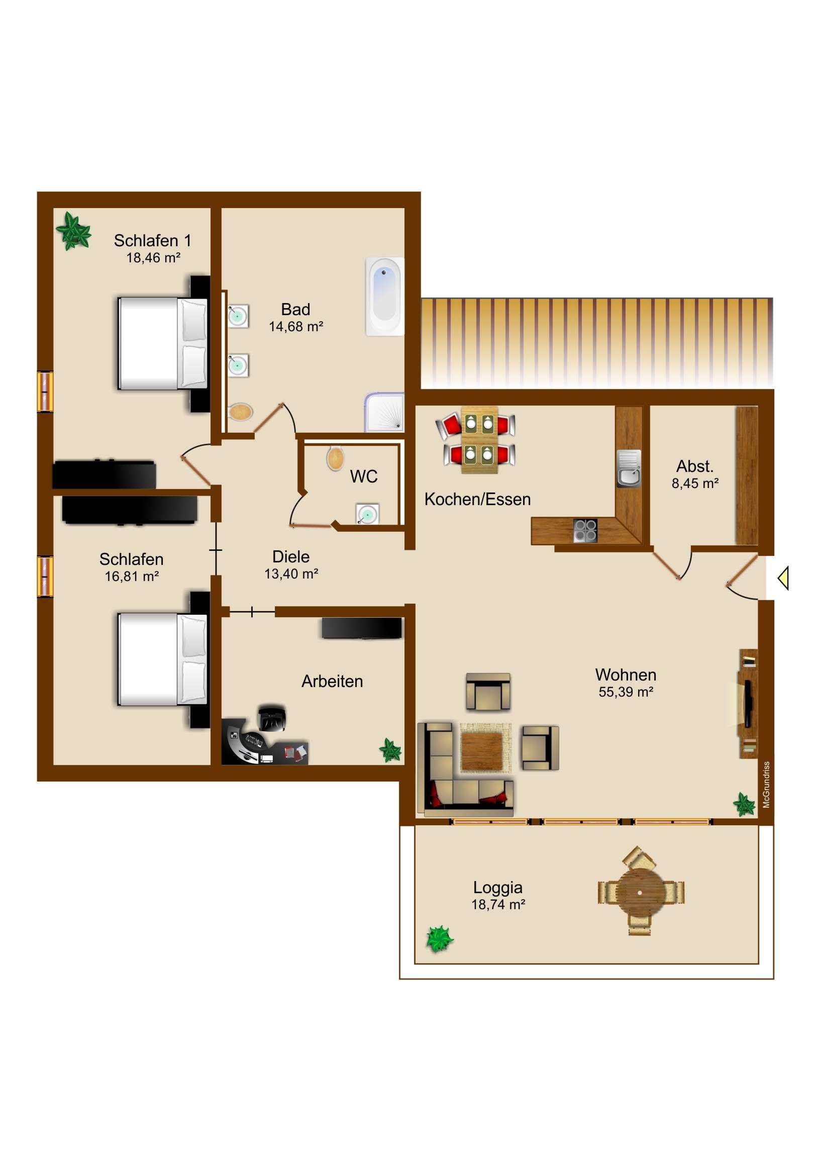 Traum Penthouse mit Loggia - Erstbezug - Für Top Ansprüche