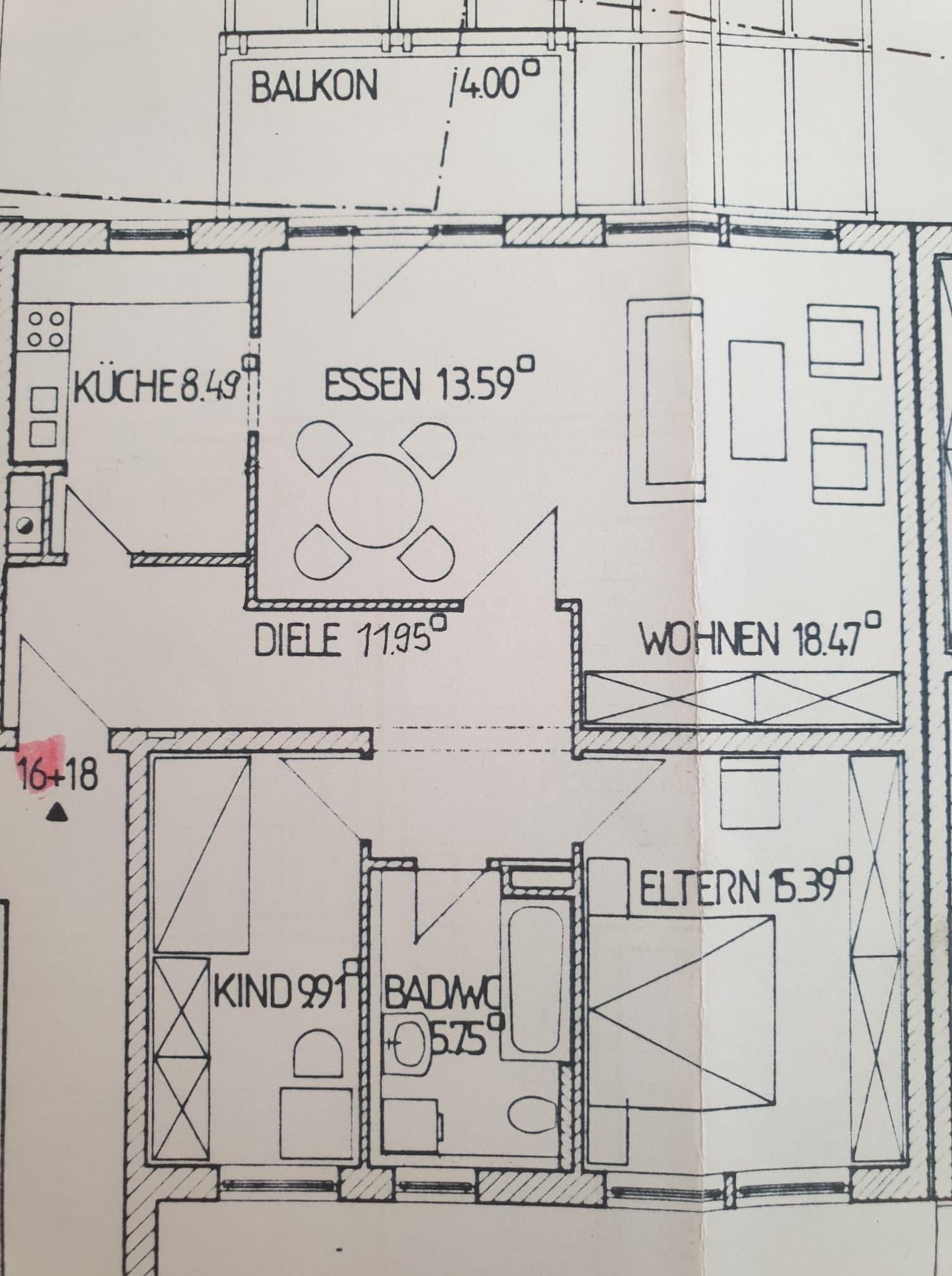 Attraktive 3-Zimmer-Wohnung mit Balkon in Vilshofen an der Donau in Vilshofen an der Donau
