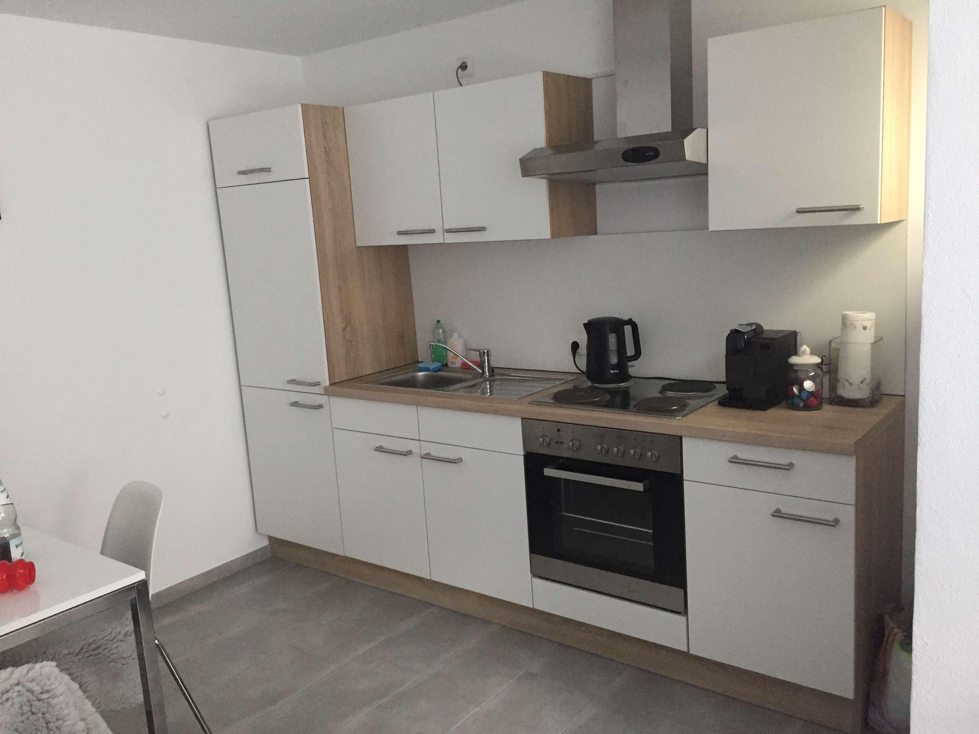 Pendlerwohnung teilmöbeliert mit Einbauküche: exklusive 1-Zimmer-Wohnung in Memmingen-Steinheim in