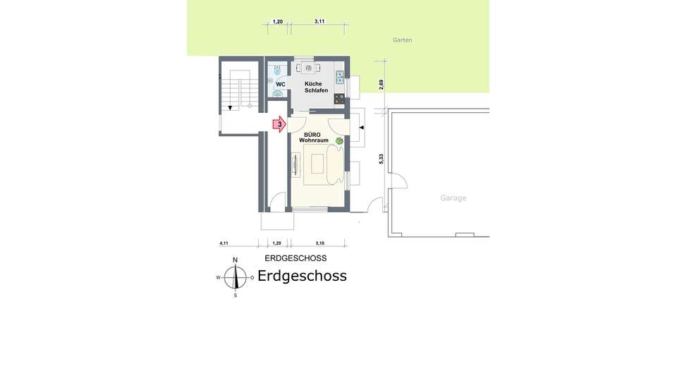 Erdgeschoss WE 3