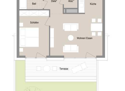2 Zimmer Gartenwohnung - Erstbezug im Quartier Stadtgärten am Henninger Turm
