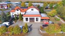 Bild Gewerbegrundstück - unterk. Verwaltungsgeb., Maisonette-Wohnung, Halle, Werkstatt, Lager, Freifläche