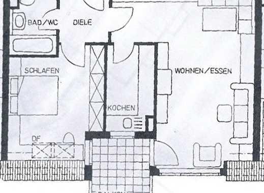 Ruhige 2-Zimmer-DG-Wohnung mit Balkon, Einbauküche und TG Stellplatz, ohne Aufzug