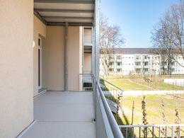 Balkon mit kleinem Garten