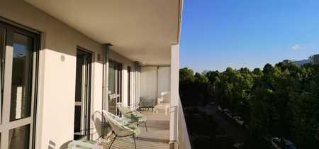 SUPERSCHICKE  2-ZI-WHG im DESIGNER-STIL,MÖBLIERT, ca.55m²,TERRASSENARTIGER Balkon,SCHÖNES HASENBERGL in Hasenbergl (München)