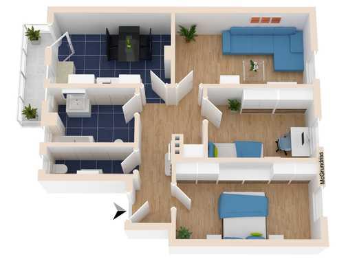 3 Zimmerwohnung im Jugendstilhaus vollständig saniert